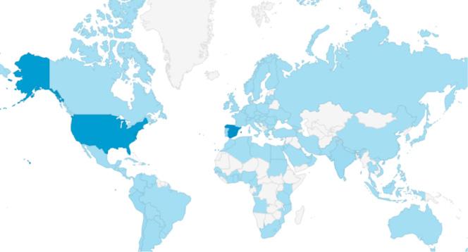 Distribución geográfica de las visitas