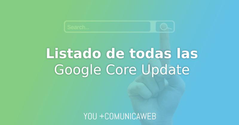 listado google core update