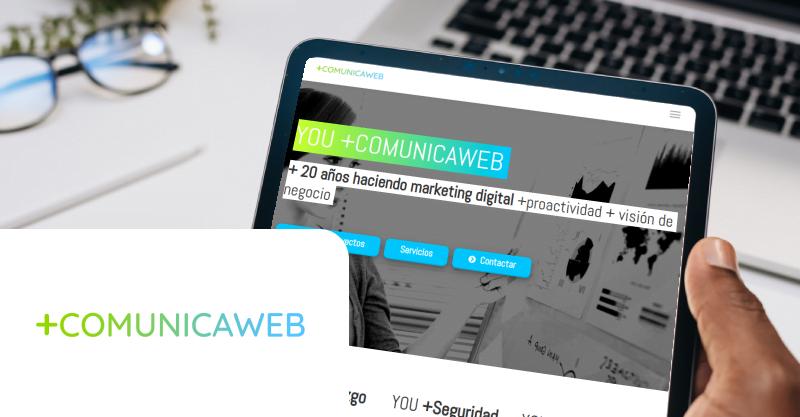 Web +COMUNICAWEB vista desde tablet